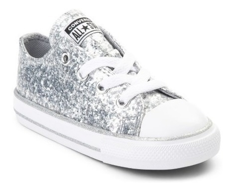 Tenis Converse Mod. 99399667 Glitter Sneaker Plata Bebe / J