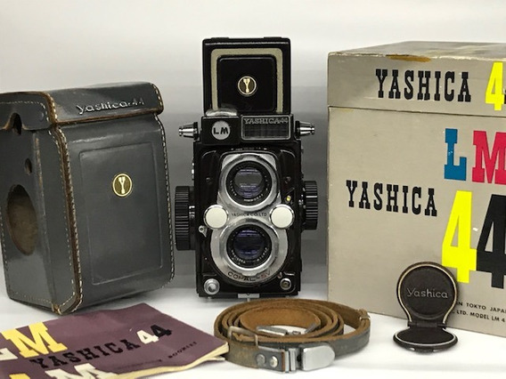 Câmera Yashica Lm 44 (4x4)antiga1958.caixa/estojo/manual.