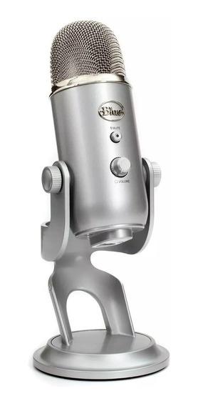 Microfone Blue Yeti Silver Usb Condensador Pc E Mac