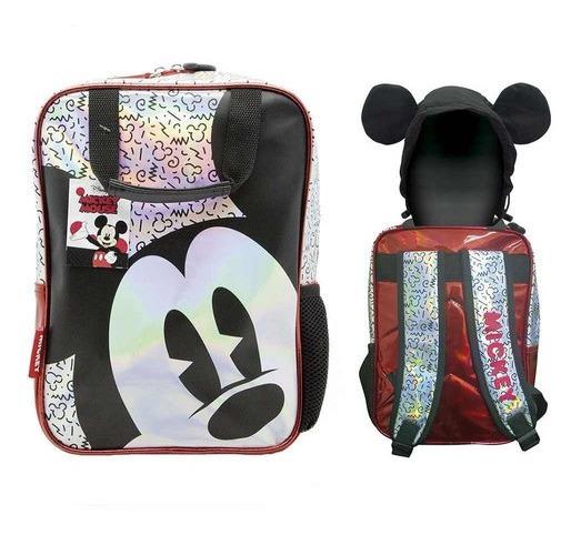 Mochila Mickey Mouse Disney Con Capucha 12