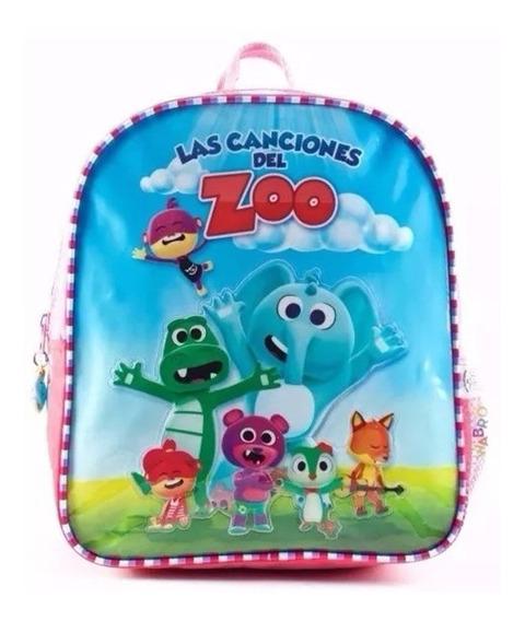 Mochila Espalda 11p Canciones Del Zoo + Dvd 88560 Jardin Edu