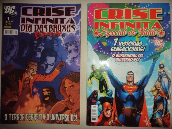 Crise Infinita Especial De Natal + Dia Das Bruxas Panini Exc