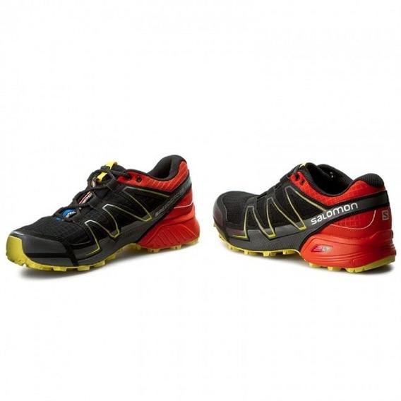 Salomon Speedcross Vario Blk Tomato Red 383142