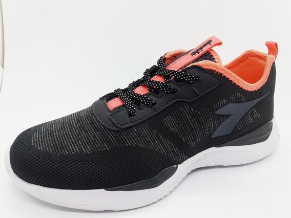 Zapatilla Diadora Bullet Negro Coral 35 36 37 38 39 Running