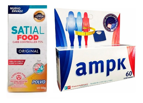 Combo Adelgazante Satial Food + Ampk X 60 Comp