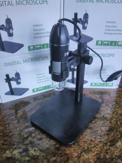 1600x Cámara Microscopio Digital 1600x Usb 2.0 8led Soporte