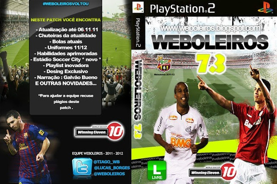 Winning Eleven 10 Boleiros 7.3 - Ps2 Futebol Patch Dvd Raro