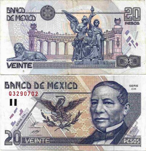 Billete De 20 Pesos Juarez (usado)