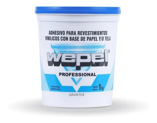 Imagen 1 de 10 de Adhesivo Wepel Profesional Empapelar Papel Empapelado 4kg Gx