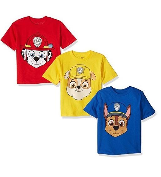 Nickelodeon Playeras De Paw Patrol, Para Niños 3 Pzas 5t