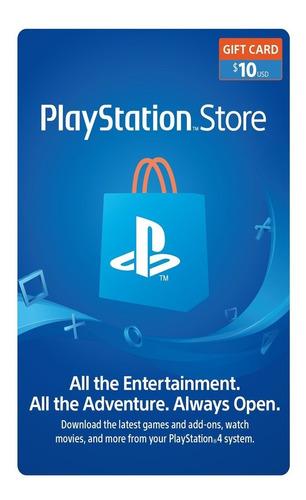 Tarjeta/card Psn 10 Usd (usa) Playstation Network  Ps3 Ps4
