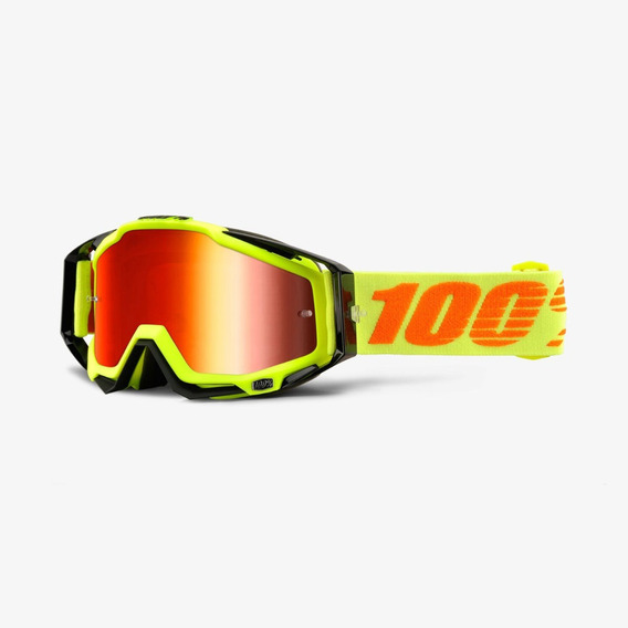 Oculos 100% Racecraft Attack Yellow - Espelhado
