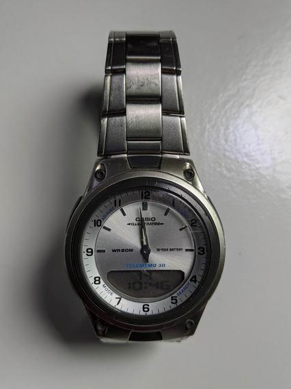Relógio Casio Illuminator Wr 50m Telememo 30