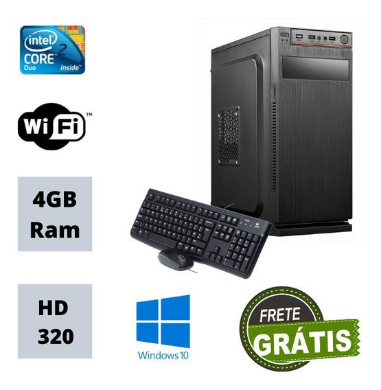 Cpu Simples Core 2 Duo 320gb De Hd 4gb Ram Win 10 Nova