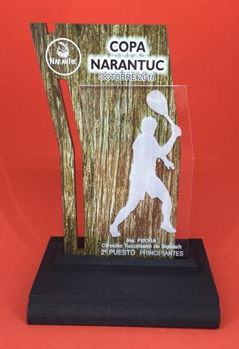 Imagen 1 de 3 de 24 Trofeo Medalla Acrilico  Tenis X 15 Cm Color