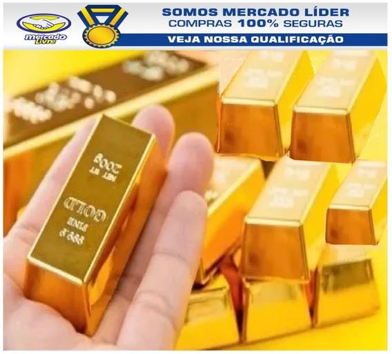 Barra De Ouro 18k 0,10g (dez Décimos De Grama) 12x Sem Juros