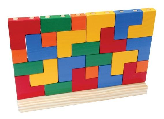 Brinquedos Educativos - Blocos De Encaixe 25 Peças
