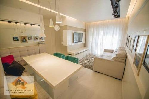 Imagem 1 de 12 de Apartamento Com 2 Dormitórios À Venda, 53 M² Por R$ 385.000,00 - Vila Aricanduva - São Paulo/sp - Ap0253