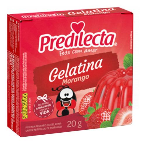 Imagem 1 de 1 de Gelatina Em Pó Morango 20g Predilecta