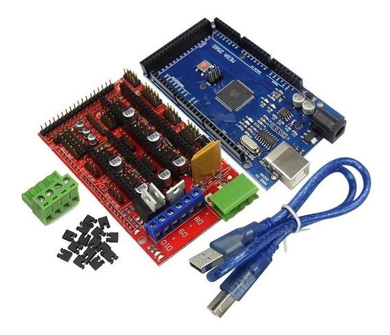 Kit Arduino Mega 2560 + Ramps 1.4 + Cabo Usb