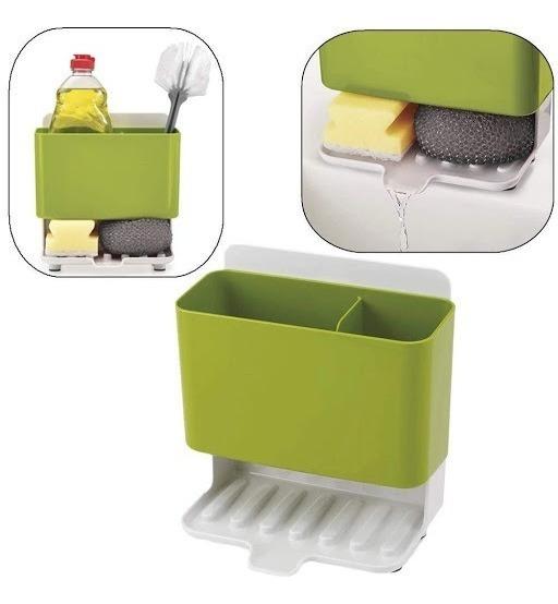Organizador De Cocina Porta Esponja Detergente Pileta Bacha