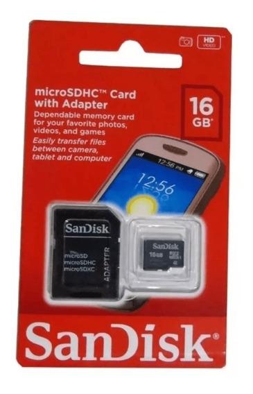 Cartão Micro Sd Sandisk Original 16gb Para Celular