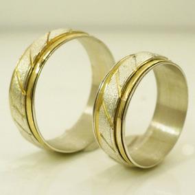 b9bc21acb5a9 Alianzas Casamiento Plata 925 Y Oro Anillos De Compromiso