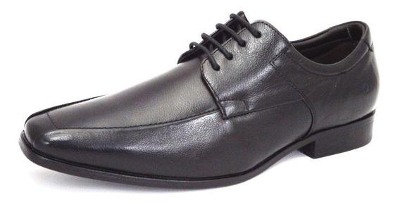 Sapato Masculino Em Couro De Amarrar Democrata Cosmo Flex Strech 013114
