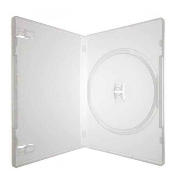 100 Box Estojo Capa Dvd Transparente Pack Filme Jogos