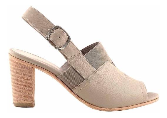 Zapato Mujer Cuero Sandalia Briganti Taco Vestir - Mcsd04543
