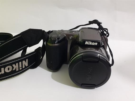 Câmera Nikon L810 Grafite Sombra Nas Bordas