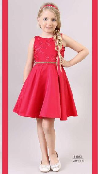 Vestido Festa Vermelho Bambollina