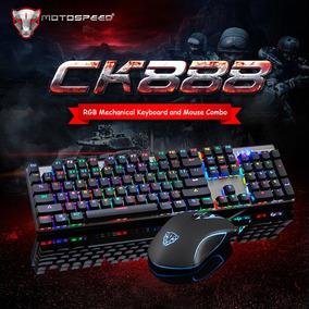 Kit Teclado Mecânico Gamer Motospeed Ck888 + Mouse Motospeed