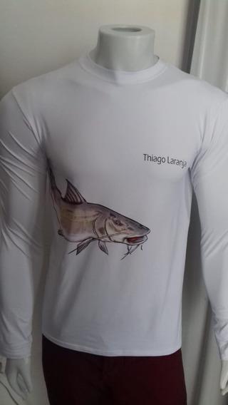 Kit 50 Camisa Proteção Uv 50+ Personalizada Grupos Pescaria
