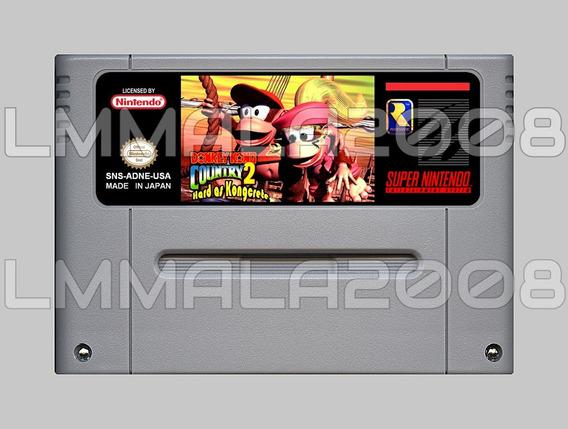 Donkey Kong Country 2 Hard As Kongcrete Snes Super Nintendo