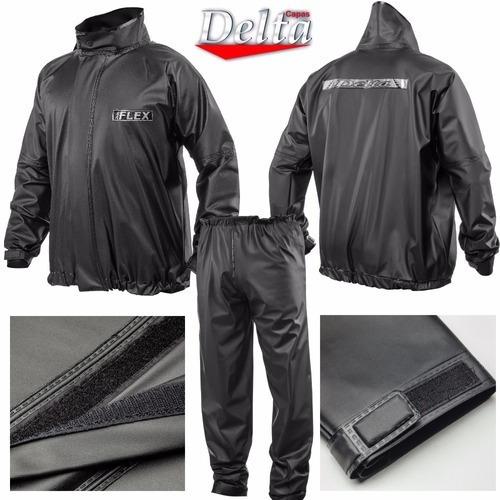 Capa De Chuva Motoqueiro Moto Boy Delta Flex - Xg