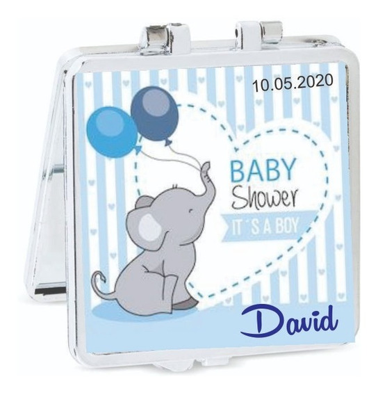 50 Pz. Recuerdo Baby Shower Espejo Personalizados Niño