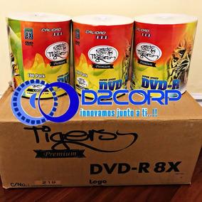 Dvd Tigers Imprimible 100unidades 8x 4,7gb De Remate!