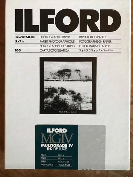 Ilford Mgiv Rc Deluxe 5x7 Satinado 25 Cuarto Oscuro De Papel