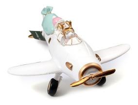 Rojoblanco Tipo Juguete Avión Navidad Papa Noel Adorno TwilXZuPkO