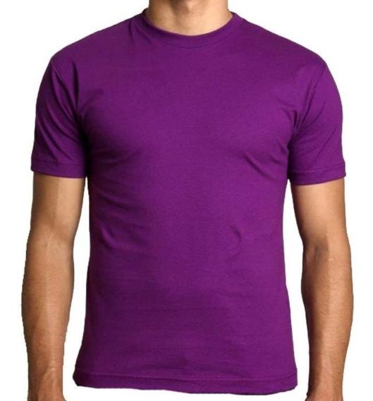 Camisa Slim Fit - Camiseta Básica Lisa - Masculina Ref 107