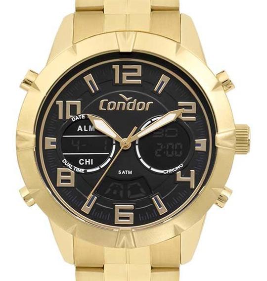 Relógio Condor Anadigi Masculino Dourado Co203amsr/4p C/ Nfe
