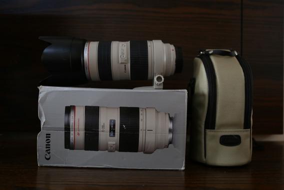 Canon 70 200 2.8 Série L C/ Cx. Original Sem Detalhes