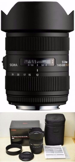 Lente Sigma Gran Angular 12-24mm F/4.5-5.6 Ii Para Canon