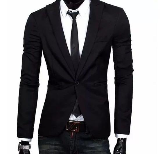 Blazer Social Slim Masculino Oxford Preto + Frete Grátis