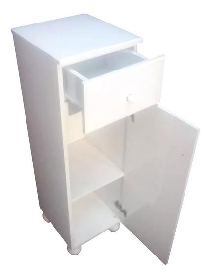 Mini Tolva Laqueada Mueble Baño 1,00 30 30 Blanca Cuotas