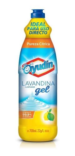 Imagen 1 de 2 de Lavandina En Gel Ayudín Pureza Cítrica 700 Ml