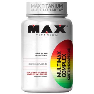 Multimax Complex 90 Capsulas Max Titanium Vitaminas Minerais