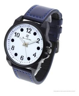 Reloj Hombre Jean Cartier 10112b M10 Ecocuero Analógico Wr