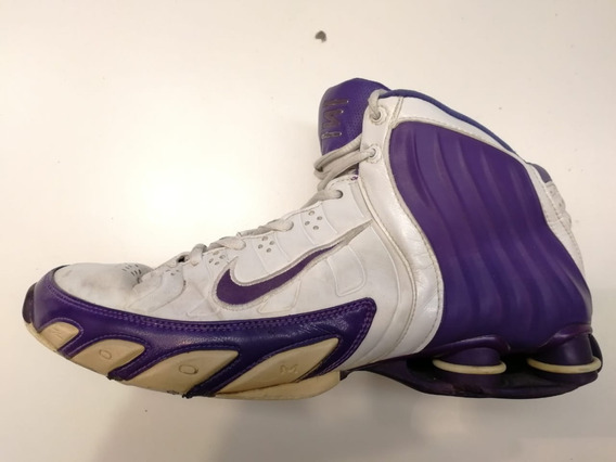 Nike Zoom Shox Basquet Hombre Violeta Talle 9 42 Vintage